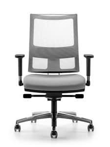 ALLYNET 1777, Sedia con schienale in rete elasticizzata, per ufficio
