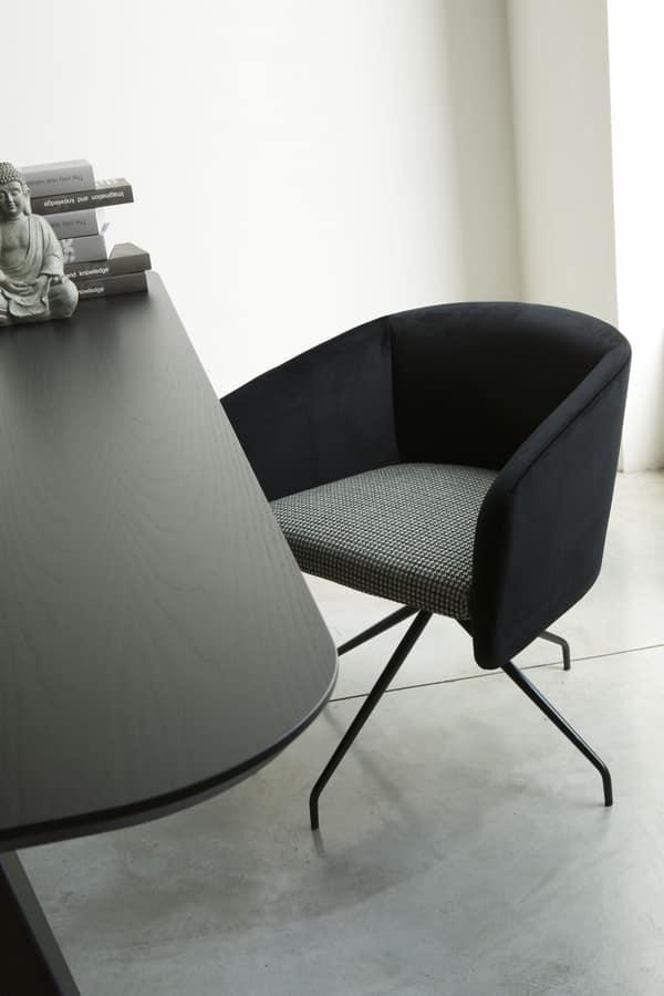 ART. BALÙ Office, Sedia girevole per ufficio, con base in metallo, in diversi colori