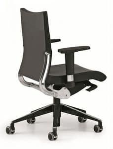 AVIA 4006, Sedia operativa per ufficio, sostegno schienale in alluminio