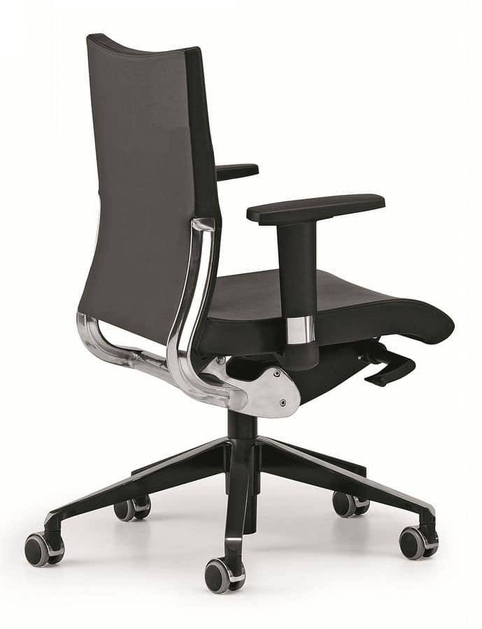 Sedia operativa per ufficio sostegno schienale in for Sedie operative per ufficio
