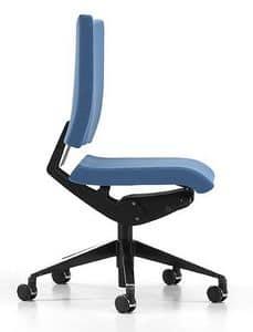 AVIAMID 3400, Sedia per ufficio con seduta e schienale imbottiti
