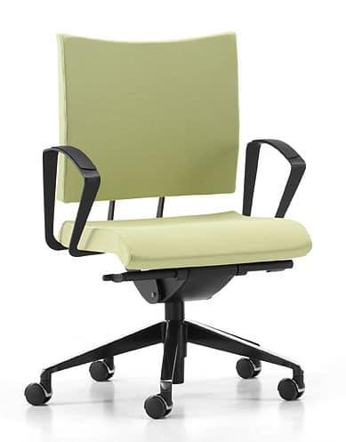 Sedia operativa su ruote vari sistemi di regolazione for Amazon sedie ufficio