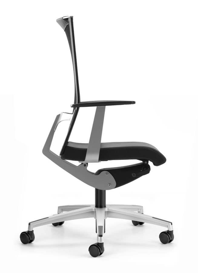 Sedia per ufficio con ruote e supporto lombare idfdesign for Amazon sedie ufficio