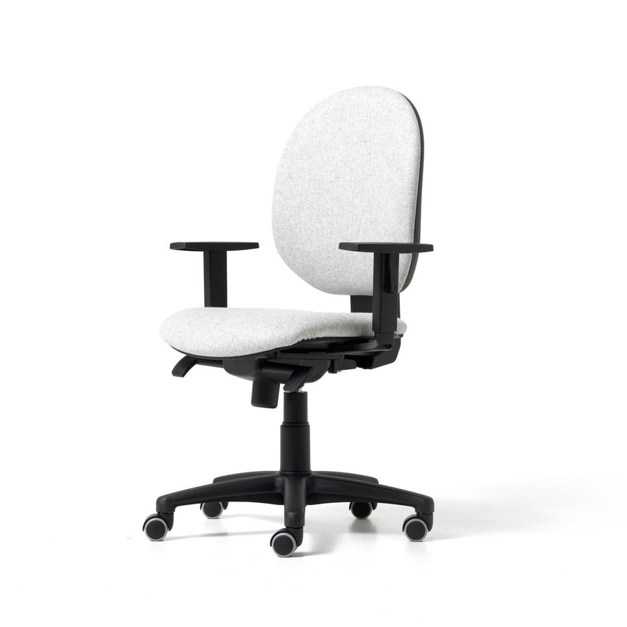 Sedia operativa da ufficio con supporto lombare integrato for Sedie ufficio