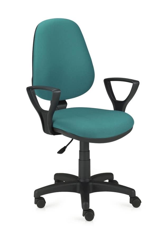 Sedia da ufficio girevole e regolabile in altezza idfdesign for Sedie living design