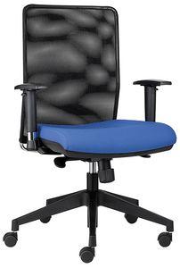 Easy SY, Sedia per ufficio operativo, con schienale in rete nera