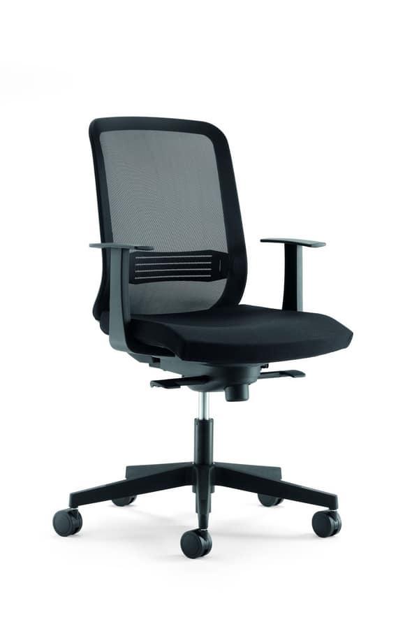 Sedia per postazione di lavoro idfdesign for Negozi sedie ufficio