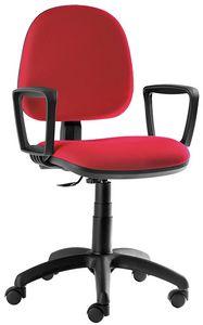 Ergovar CPM, Sedia per scrivania, con ruote e regolazioni manuali