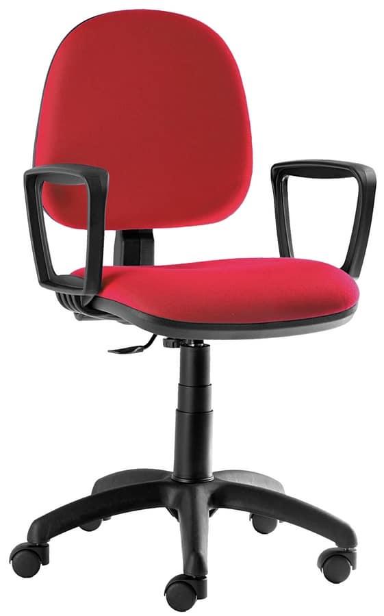 Sedia per scrivania con ruote e regolazioni manuali for Sedie ufficio design