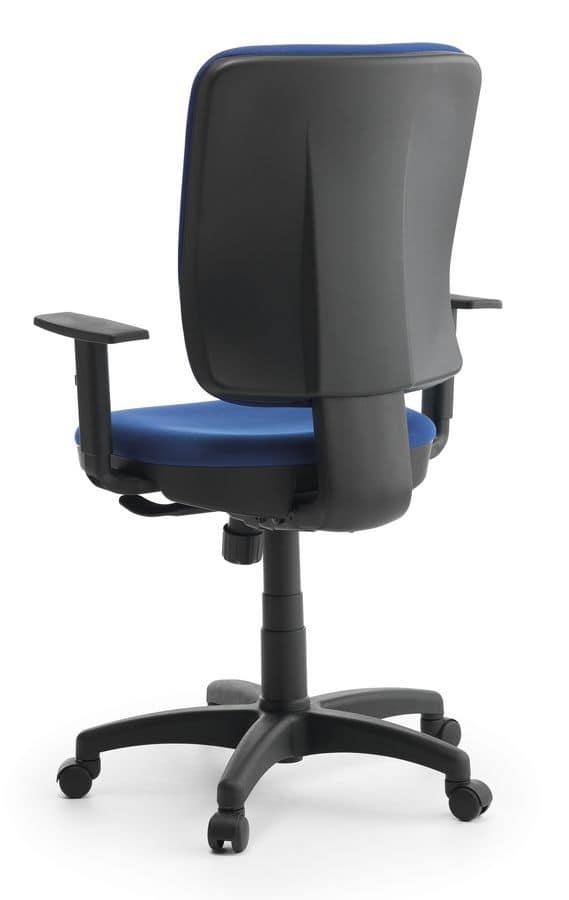 Sedia operativa imbottita in polipropilene per ufficio for Sedie ufficio design