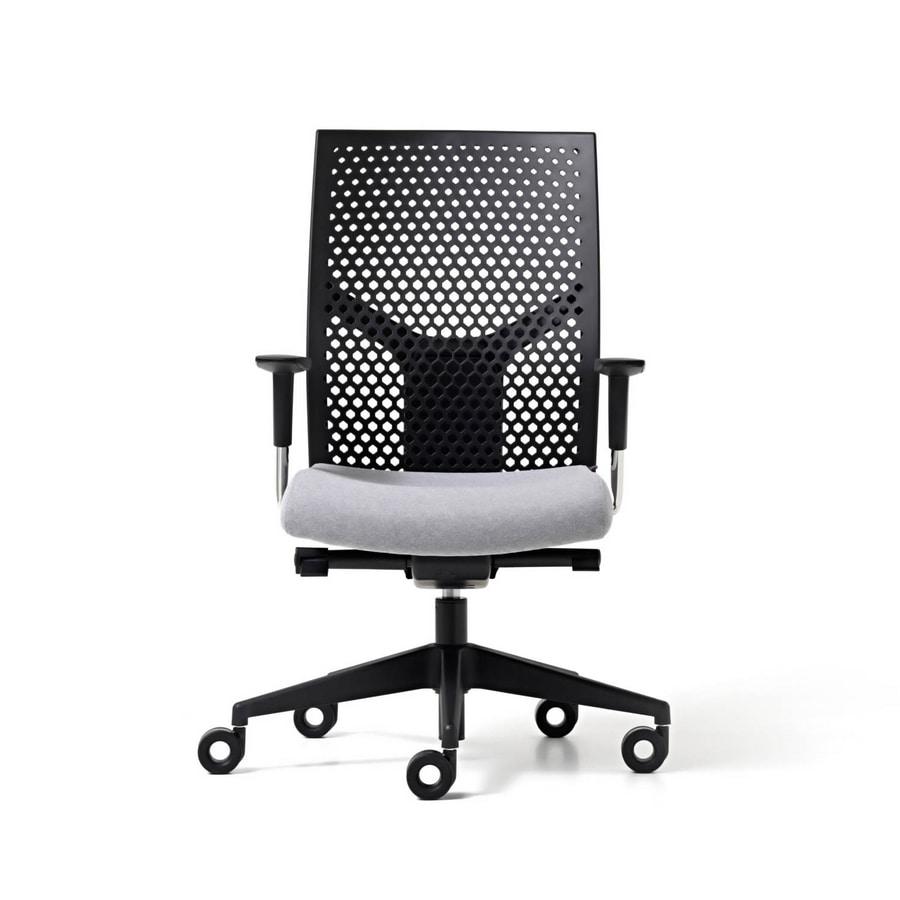 Sedia operativa con schienale in polipropilene regolabile for Amazon sedie ufficio