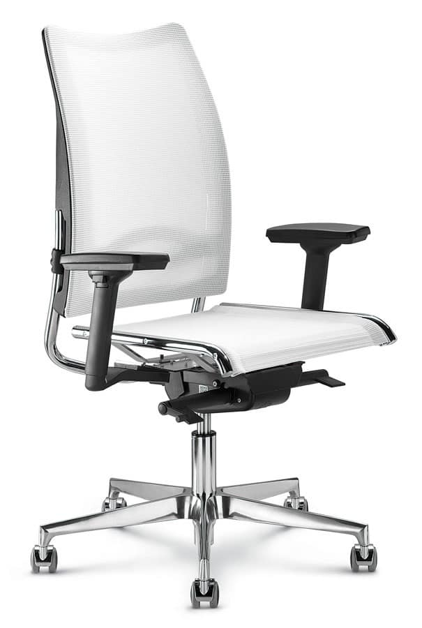 Sedia per ufficio con schienale alto in rete ergonomica for Sedute da ufficio