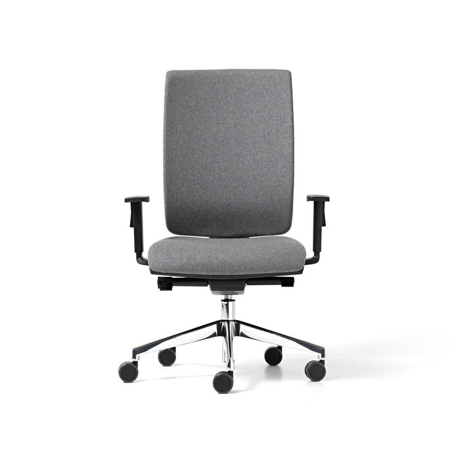 Sedia con poggiatesta per ufficio meccanismo traslatore for Fenice design sedie ufficio