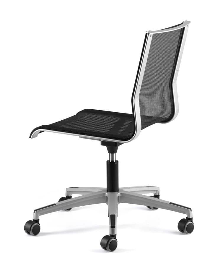 sedia operativa per ufficio con ruote scocca in rete