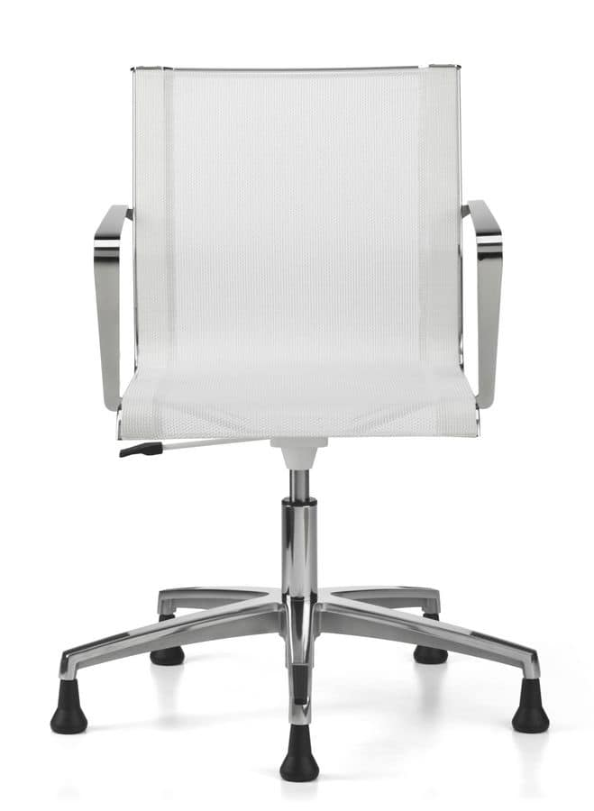 Sedia girevole per ufficio base in alluminio con piedini for Amazon sedie ufficio