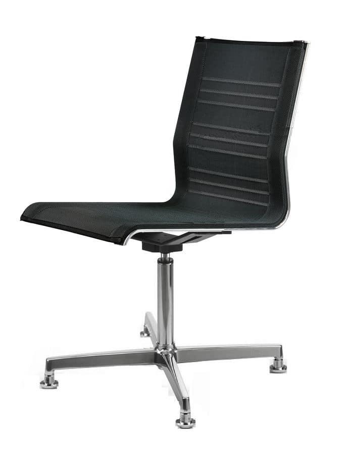 Sedia girevole con 4 piedi per uffici moderni idfdesign for Amazon sedie ufficio