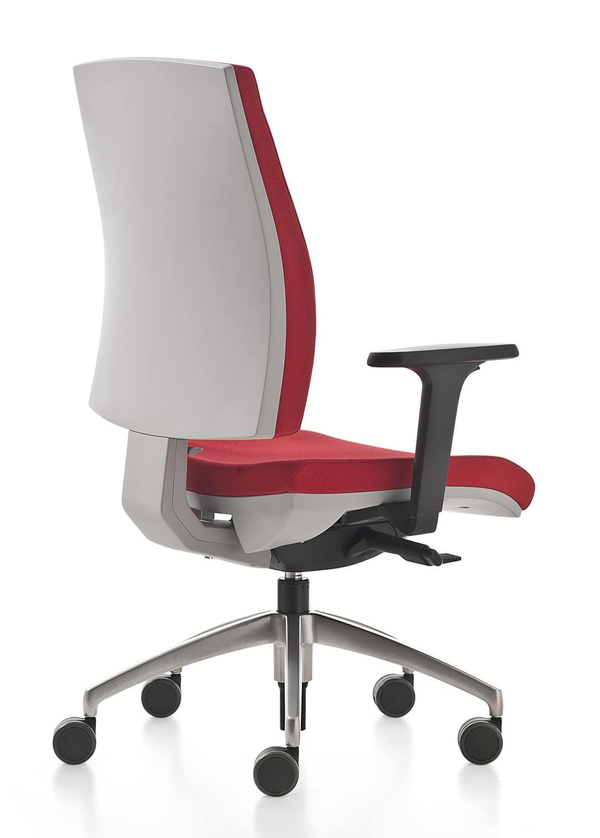 Sedia girevole per ufficio con appoggio lombare for Amazon sedie ufficio