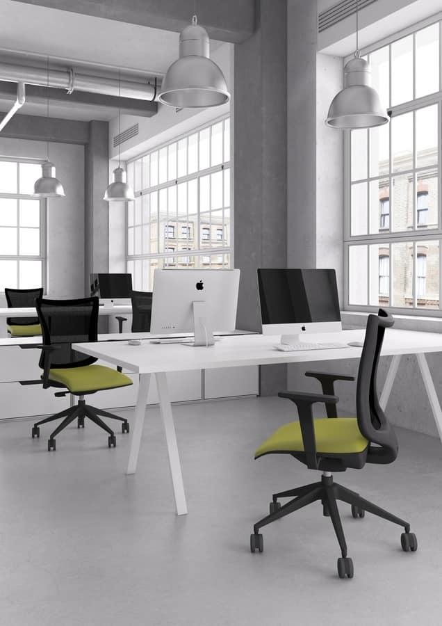 Kuper, Sedia girevole per ufficio, varie dimensioni e finiture