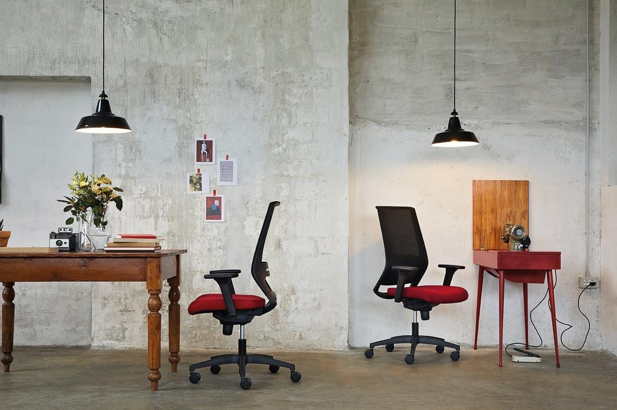 Logica 01, Sedia operativa per uffici ricercati