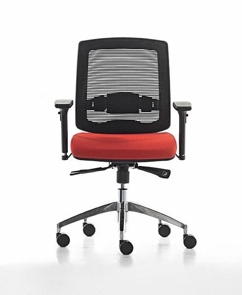 Sedia operativa per ufficio ideale per call center for Sedie operative per ufficio