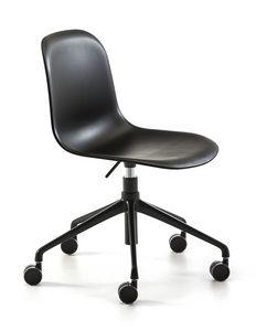 Mani plastic HO, Sedia con ruote, regolabile in altezza