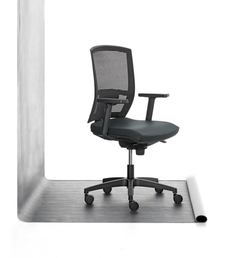 Sedia operativa imbottita in poliuretano per ufficio for Fenice design sedie ufficio