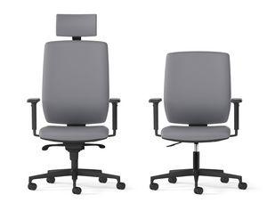 MIRAI, Poltrona girevole per ufficio con schienale alto