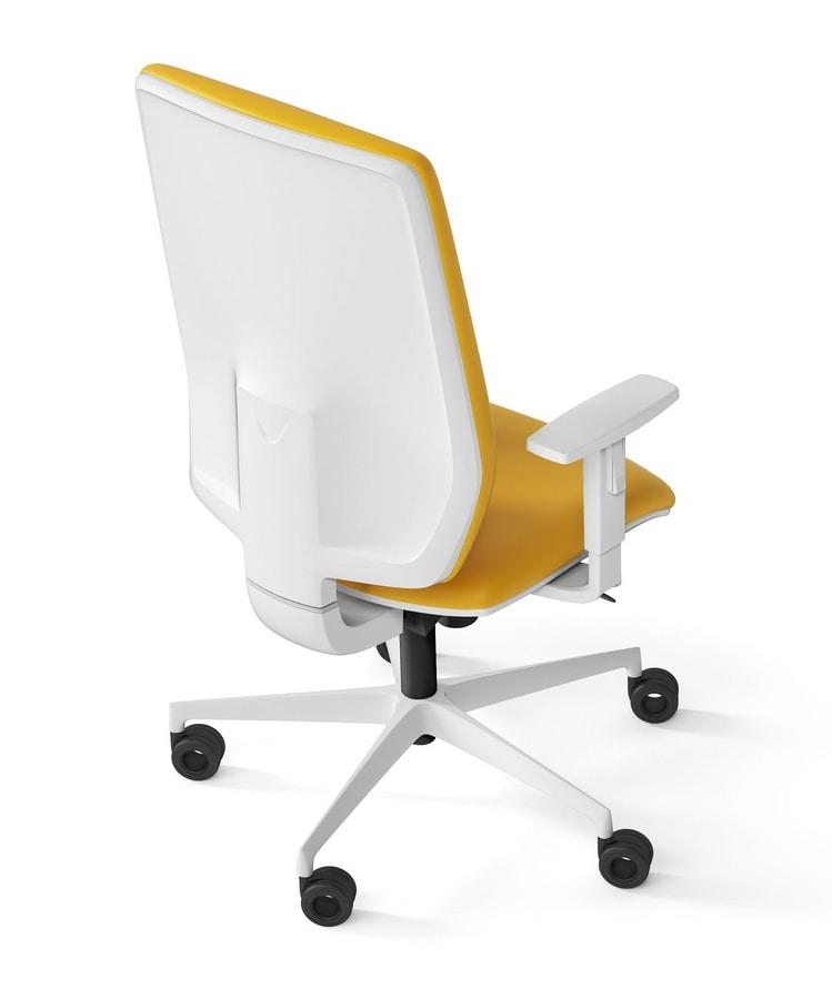 MIRAI WHITE, Sedia imbottita operativa per ufficio