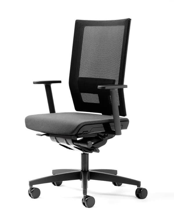 Sedia operativa ergonomica braccioli girevole per for Negozi sedie ufficio