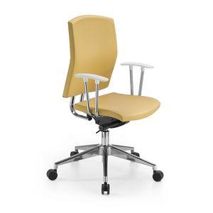 Orient bassa, Sedia da ufficio, in pelle o tessuto