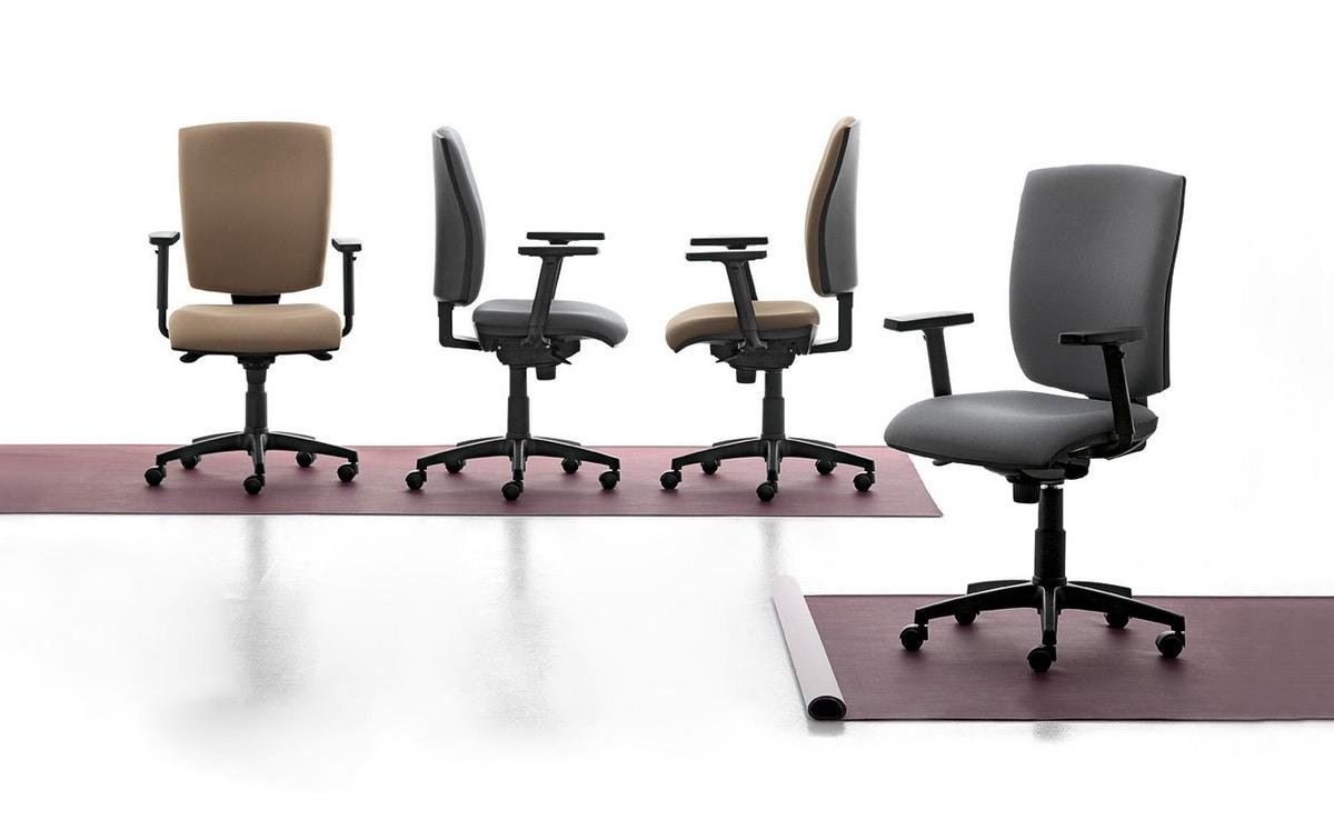 Bloccare Ruote Sedia Ufficio.Sedia Operativa Con Braccioli E Ruote Per Ufficio Idfdesign
