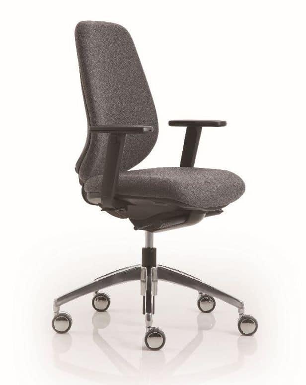 Sedia operativa con schienale regolabile per uffici for Negozi sedie ufficio