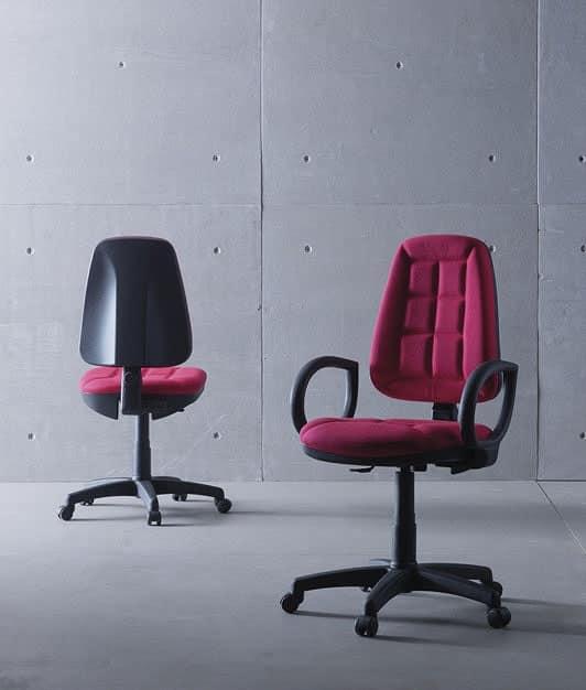 Sedia operativa con braccioli e schienale alto per for Fenice design sedie ufficio
