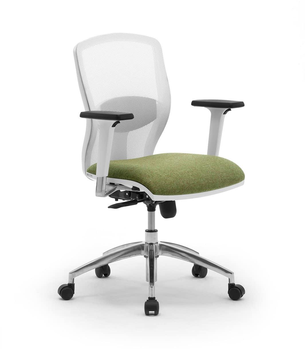 Sprint W RE, Sedia operativa con schienale in rete, per ufficio