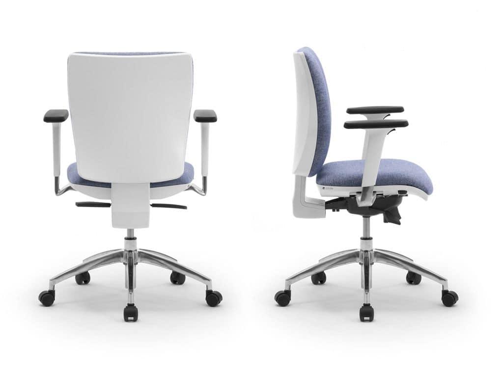 Sedie Ufficio Bianche : Elegante sedia operativa per ufficio con finitura bianca idfdesign