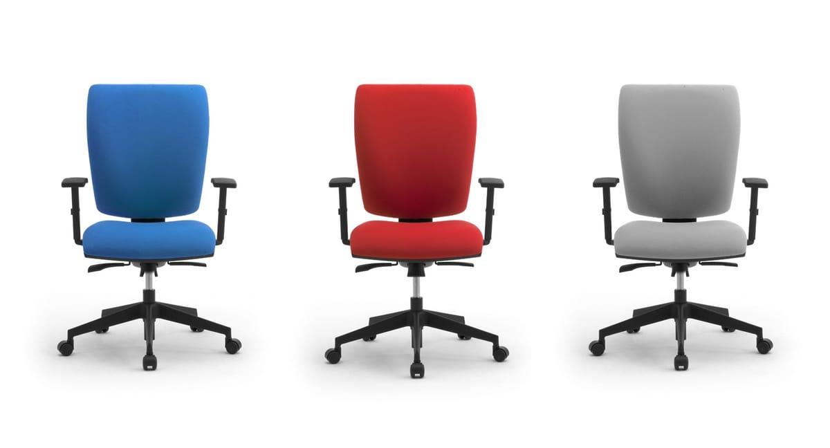 Sprint X, Sedia operativa per ufficio, con schienale medio-alto
