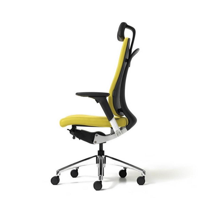 Sedia direzionale comoda con schienale ergonomico for Sedia design comoda