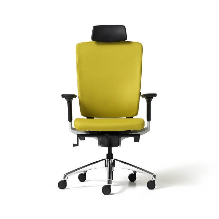 Sedia direzionale comoda con schienale ergonomico idfdesign