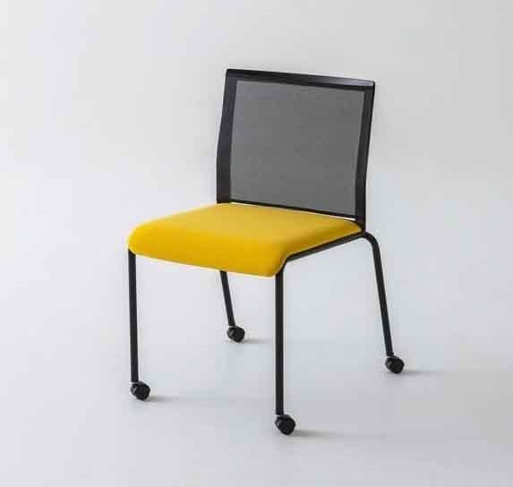 Sedia con ruote e schienale in rete | IDFdesign
