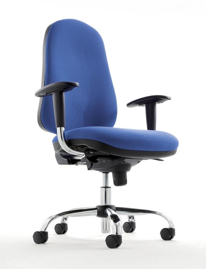 Sedia operativa con ruote per uffici e call center for Amazon sedie ufficio