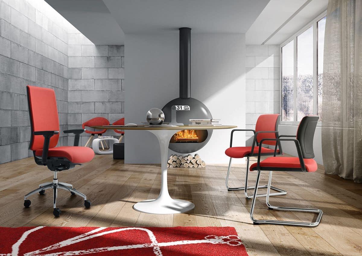 Sedia operativa per ufficio sedia ufficio con braccioli e for Sedie operative per ufficio