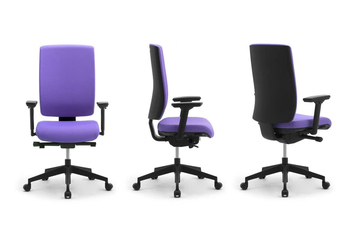 Sedia operativa per ufficio con braccioli e poggiatesta for Sedie ufficio