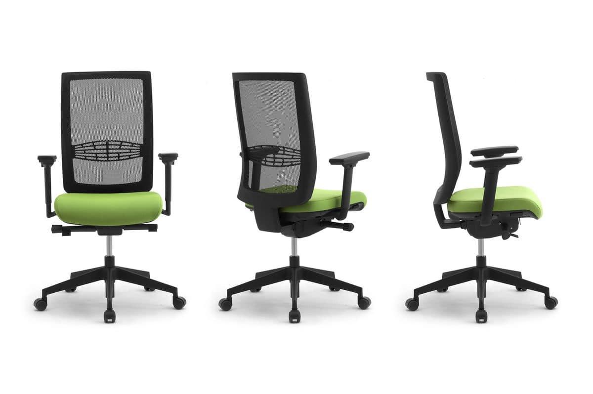 Sedia operativa per ufficio con supporto lombare idfdesign for Amazon sedie ufficio