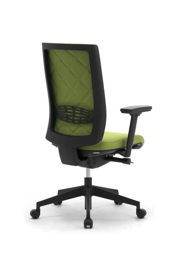 Wiki Tech, Sedia girevole per ufficio, con schienale con rombi
