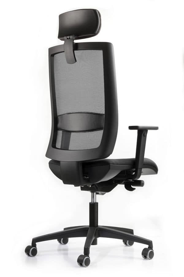 Sedia per ufficio poggiatesta con regolazione di altezza for Fenice design sedie ufficio