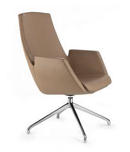NUBIA 2916, Sedia in pelle per ufficio