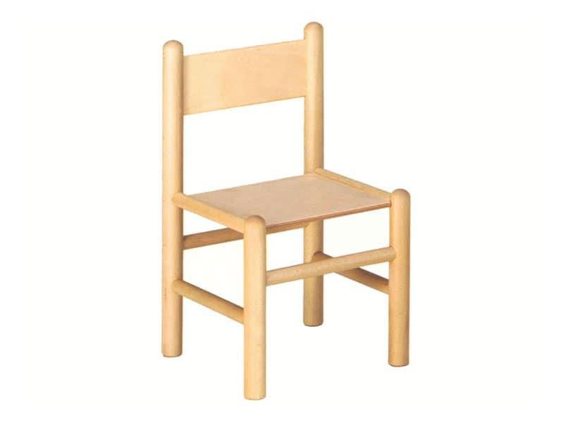 940, Sedia per bambini, in legno di faggio, adatta per banchi scolastici