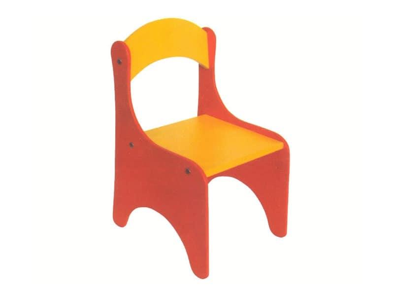 Sedia colorata per bimbi smontabile per scuola dell infanzia