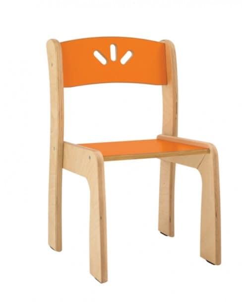 sedia impilabile in multistrato di betulla per bambini idfdesign