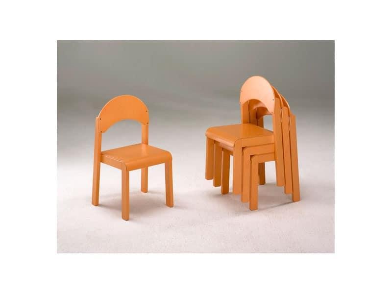 Sedie per bambini impilabili per cameretta ed asilo for Sedie piccole